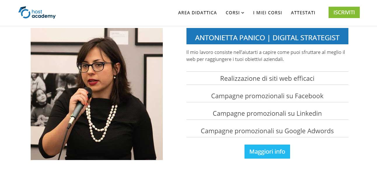Host academy- Antonietta Panico Digital Strategist